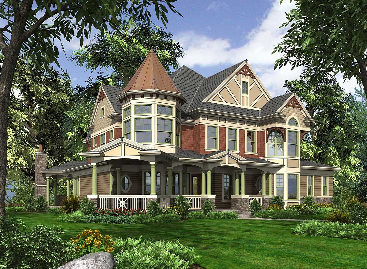 Victorian influences with other versions 23356jd 2nd for Victorian house plans
