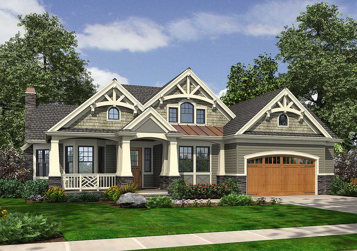 Rambler in multiple versions 23384jd craftsman for Craftsman house plans with bonus room