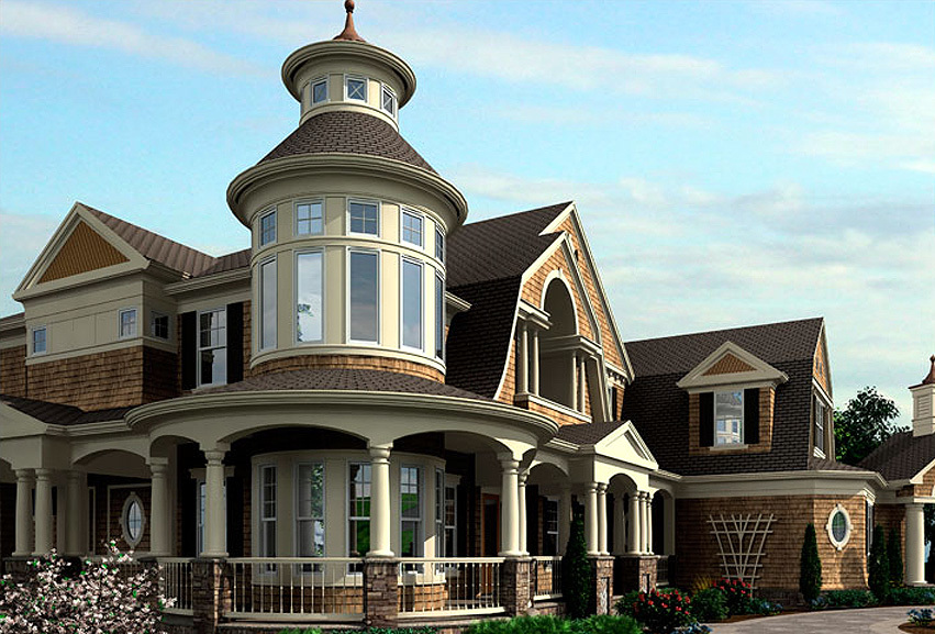 Outstanding Shingle Style Home Plan 23393JD
