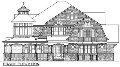 Outstanding Shingle-Style Home Plan - 23393JD thumb - 02