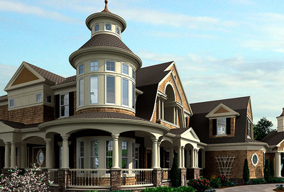 Outstanding Shingle-Style Home Plan - 23393JD thumb - 01