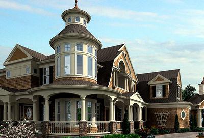 Luxurious Shingle-Style Home Plan - 23394JD thumb - 01