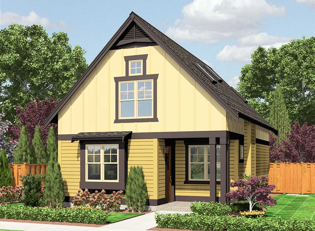 cozy cottage with options 23398jd architectural designs house plans. Black Bedroom Furniture Sets. Home Design Ideas