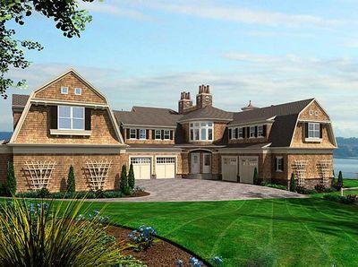 Luxurious Shingle Style Home Plan 23412jd