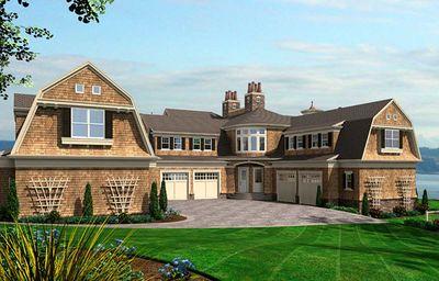 Spectacular Shingle Style House Plan - 23413JD thumb - 02