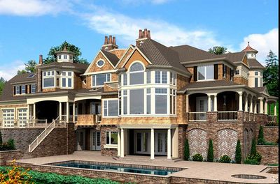 Spectacular Shingle Style House Plan - 23413JD thumb - 03