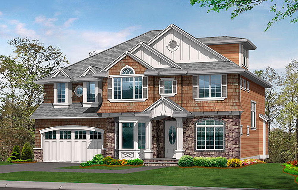 Large family home plan with options 23418jd for House plans for large families
