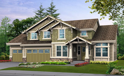 Craftsman Home Plan in Many Versions - 23421JD thumb - 01