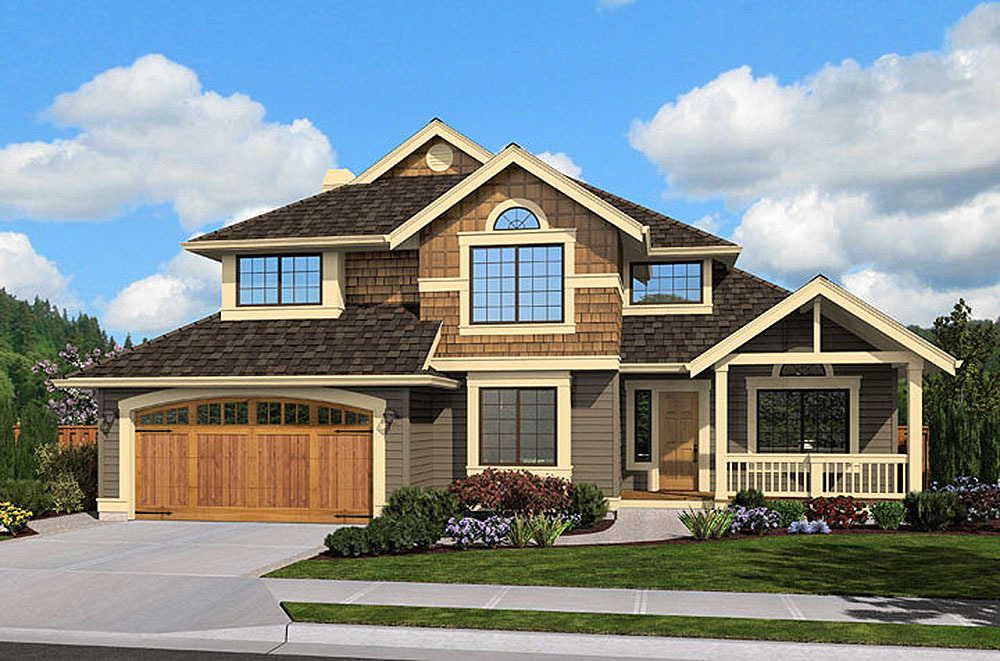 Narrow lot craftsman 23434jd architectural designs for Narrow craftsman house plans