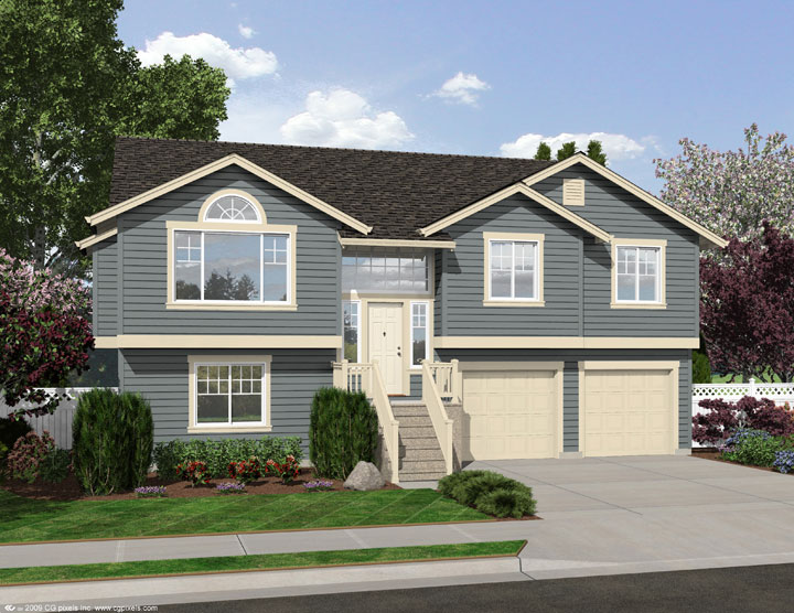 Four Bedroom Split Level 23443jd 1st Floor Master Suite Butler Walk In Pantry Cad