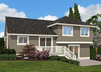 Split Level Home Plan for Narrow Lot - 23444JD thumb - 03