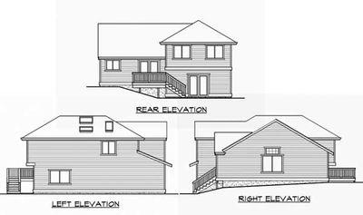 Split Level Home Plan for Narrow Lot - 23444JD thumb - 04