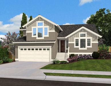 Split Level Home Plan for Narrow Lot - 23444JD thumb - 01