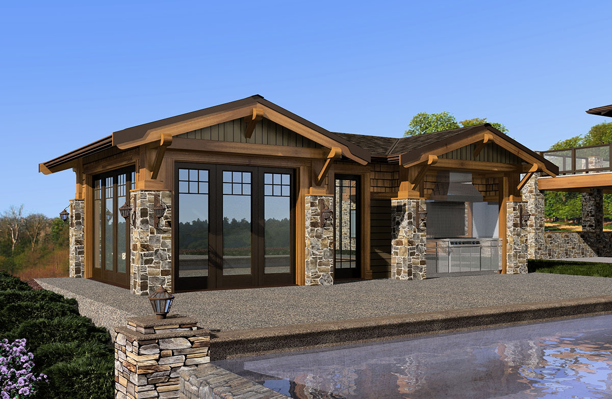 Mountain Cabana With Views 23451jd Cad Available
