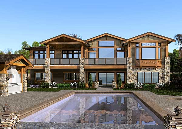 Mountain craftsman home 23472jd craftsman mountain for Luxury mountain home plans
