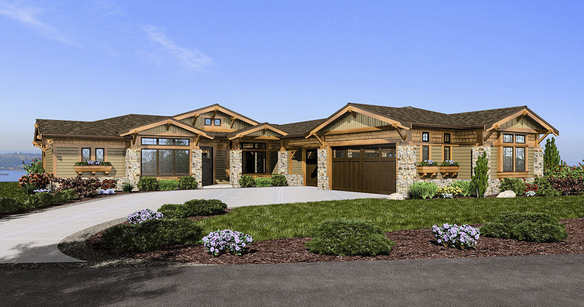 Mountain craftsman home 23472jd architectural designs for Architectural design mountain home