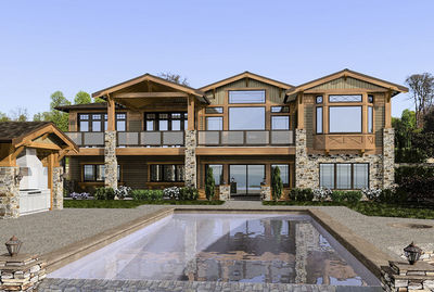 mountain craftsman home - 23472jd   architectural designs - house