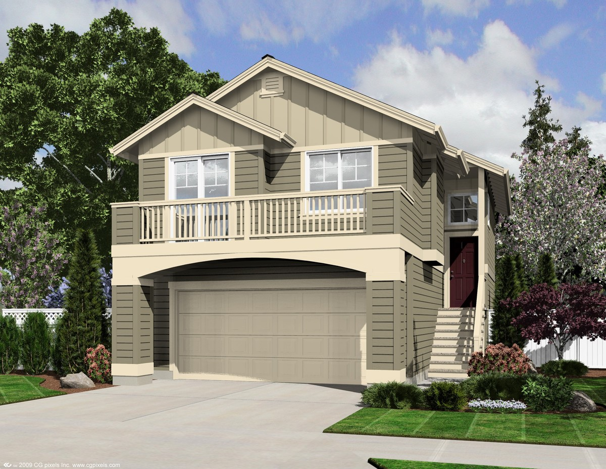 Large narrow lot home plan 23475jd architectural for House plans for large lots