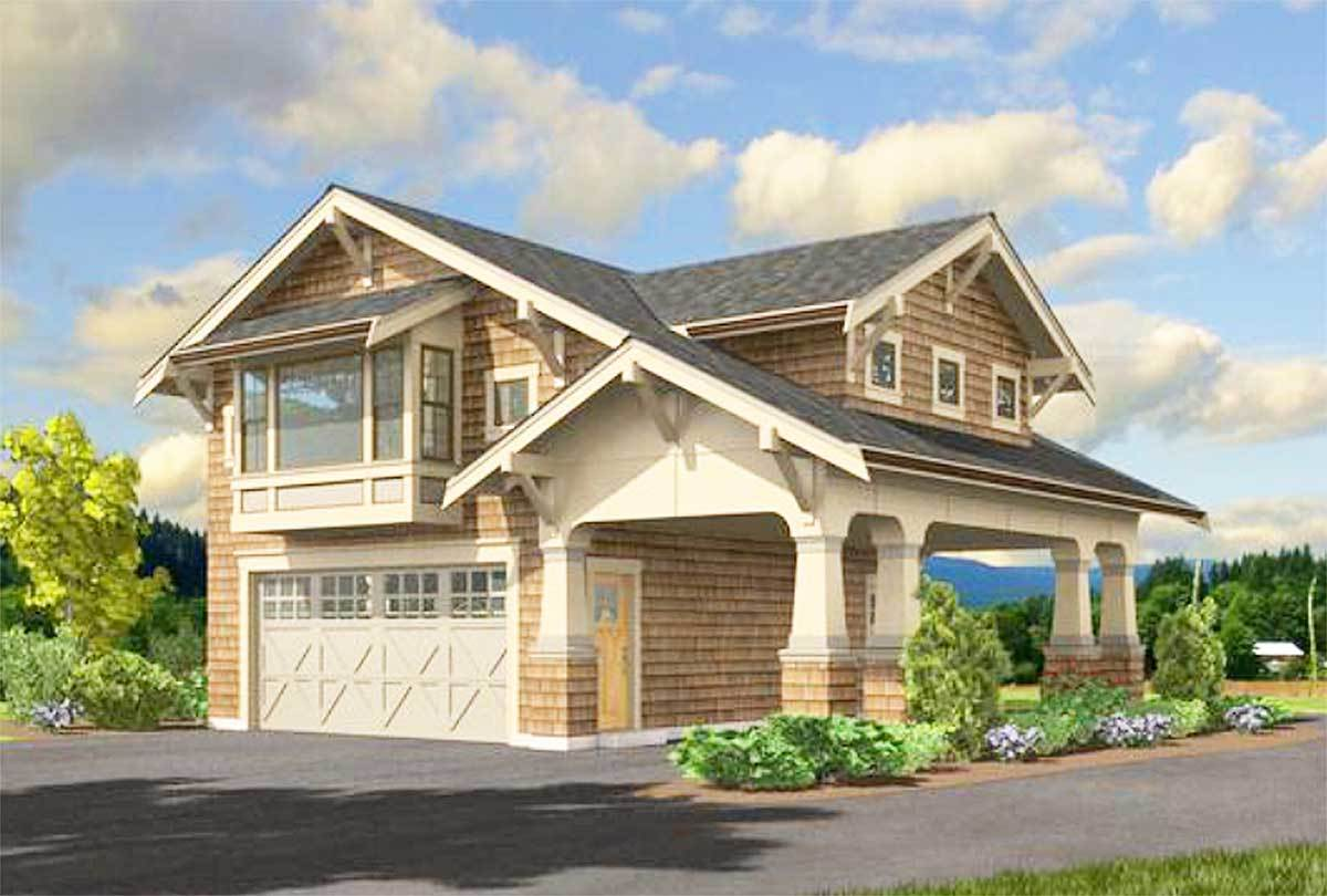 Craftsman garage apartment 23484jd architectural for Large carriage house plans
