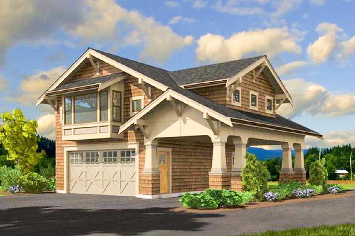 Craftsman Garage Apartment - 23484JD