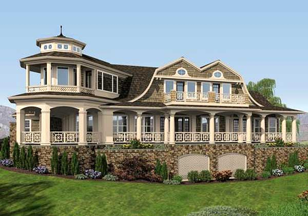 Luxurious shingle style home plan 23485jd 2nd floor for Shingle style home plans