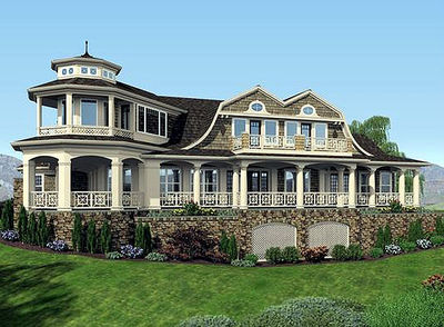 Luxurious shingle style home plan 23485jd 2nd floor for Luxury shingle style house plans
