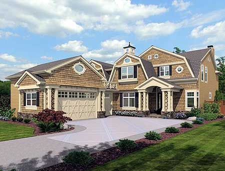 Gambrel cape house plans House design plans