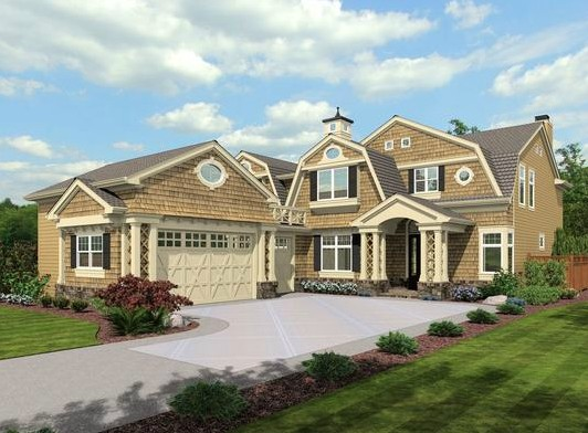 Huge open floor plan 23486jd cape cod shingle for Cape cod luxury homes