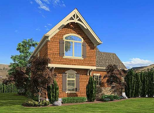 Craftsman cottage or carriage house plan 23488jd 2nd for Craftsman carriage house plans