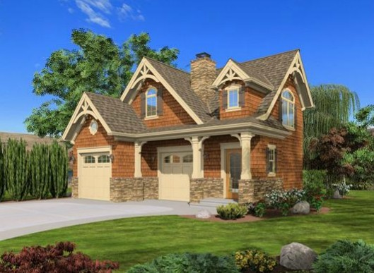 Craftsman cottage or carriage house plan 23488jd 2nd for Small carriage house plans