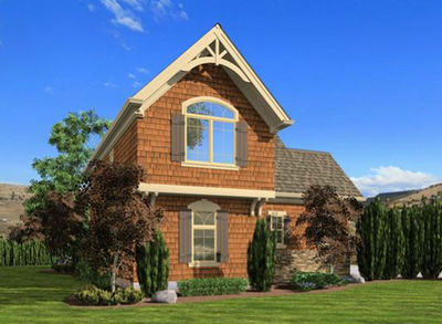 Craftsman Cottage or Carriage House Plan - 23488JD thumb - 02