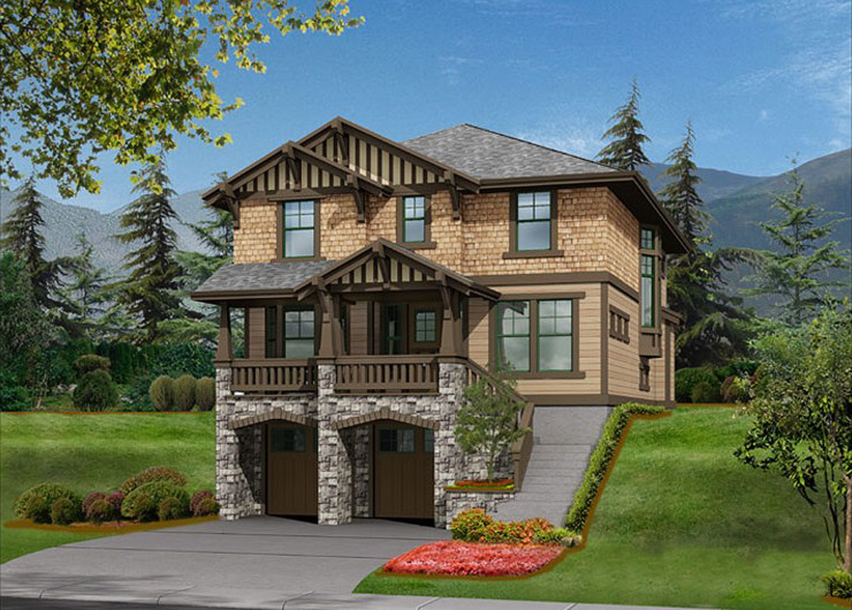 Timeless rustic exterior in 2 sizes 2349jd for Timeless house plans