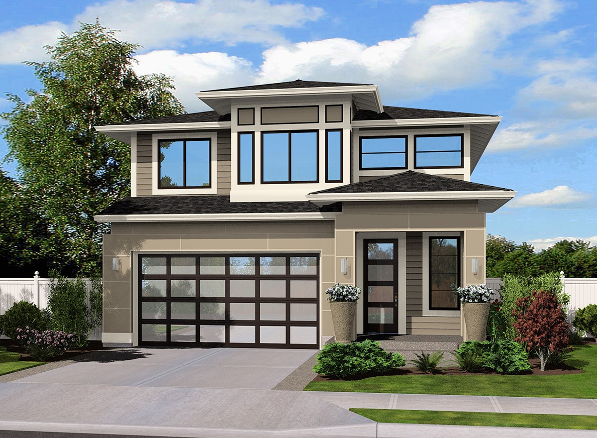 Contemporary northwest home plan 23493jd 2nd floor for Northwest contemporary homes