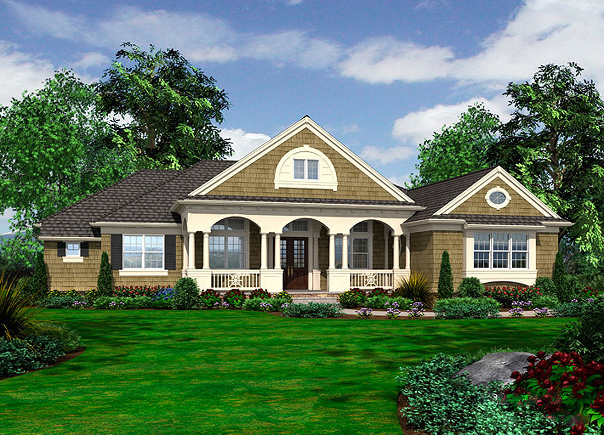 Spacious northwest home with lower level 23499jd for Northwest home designs