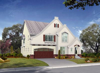 Perfect for narrow or corner lots 2351jd architectural for Perfect for corner lot house plans