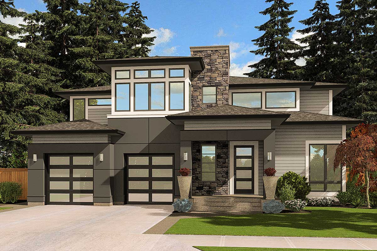 Tandem garage 23514jd architectural designs house plans for Tandem garage
