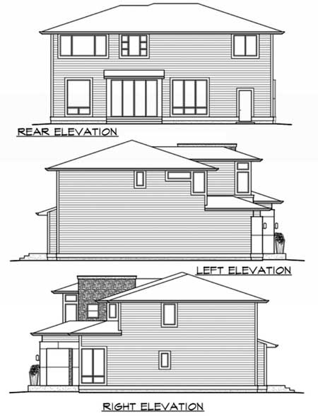 Tandem garage and optional flex space 23518jd 2nd for Tandem garage house plans