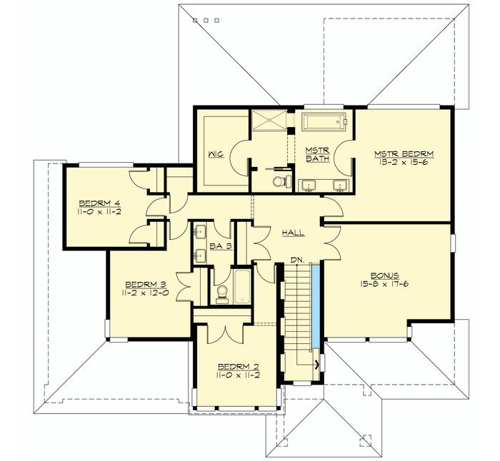 Prairie Home with Optional Flex Space - 23519JD floor plan - 2nd Floor