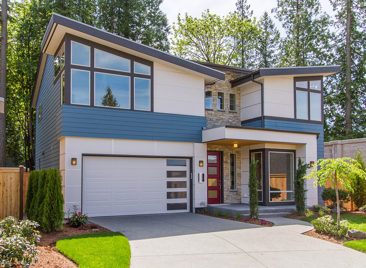 Contemporary Design With Angular Roofline  23520JD  2nd