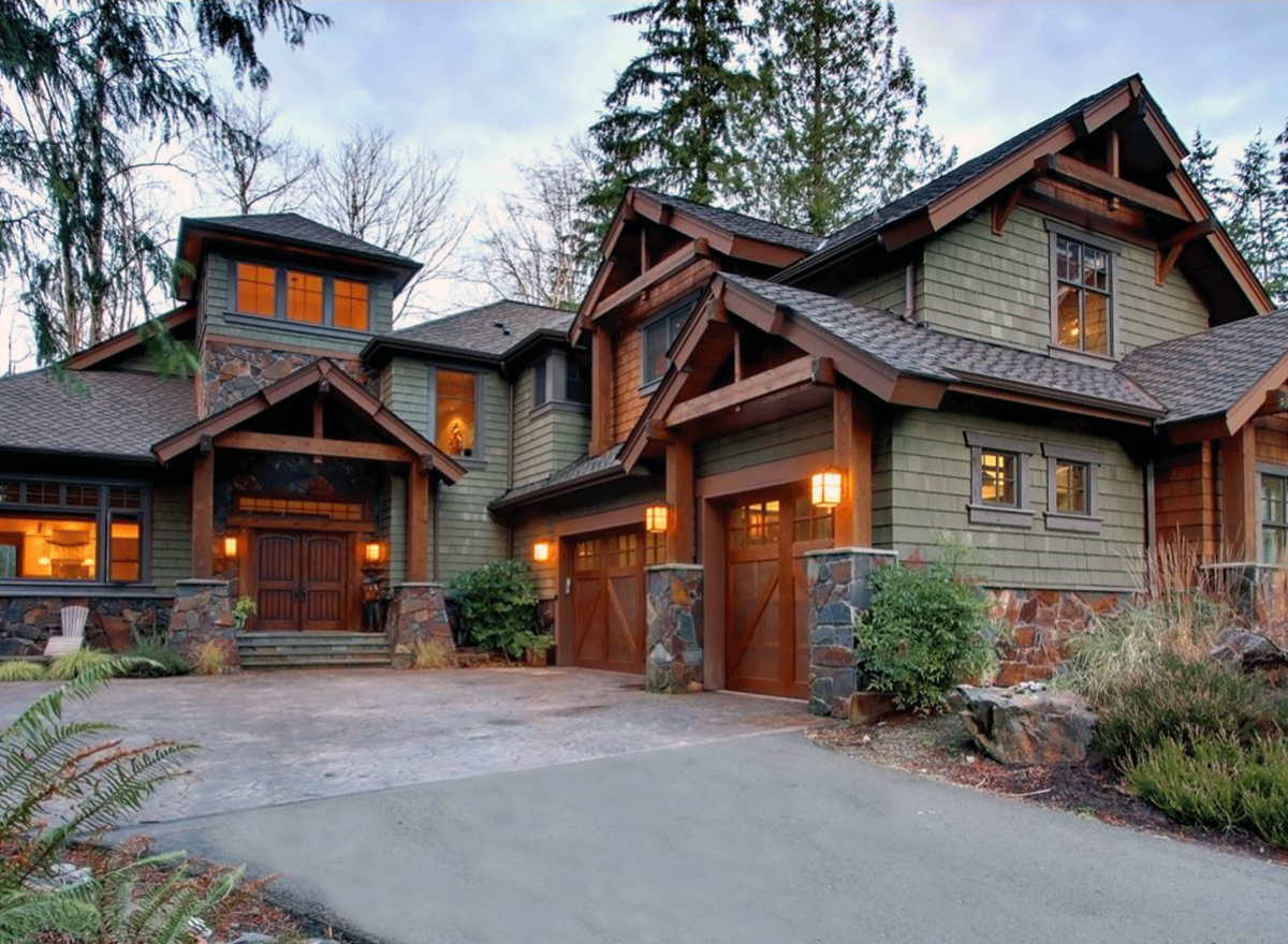 4 bedroom rustic retreat 23534jd architectural designs for Craftsman style architecture