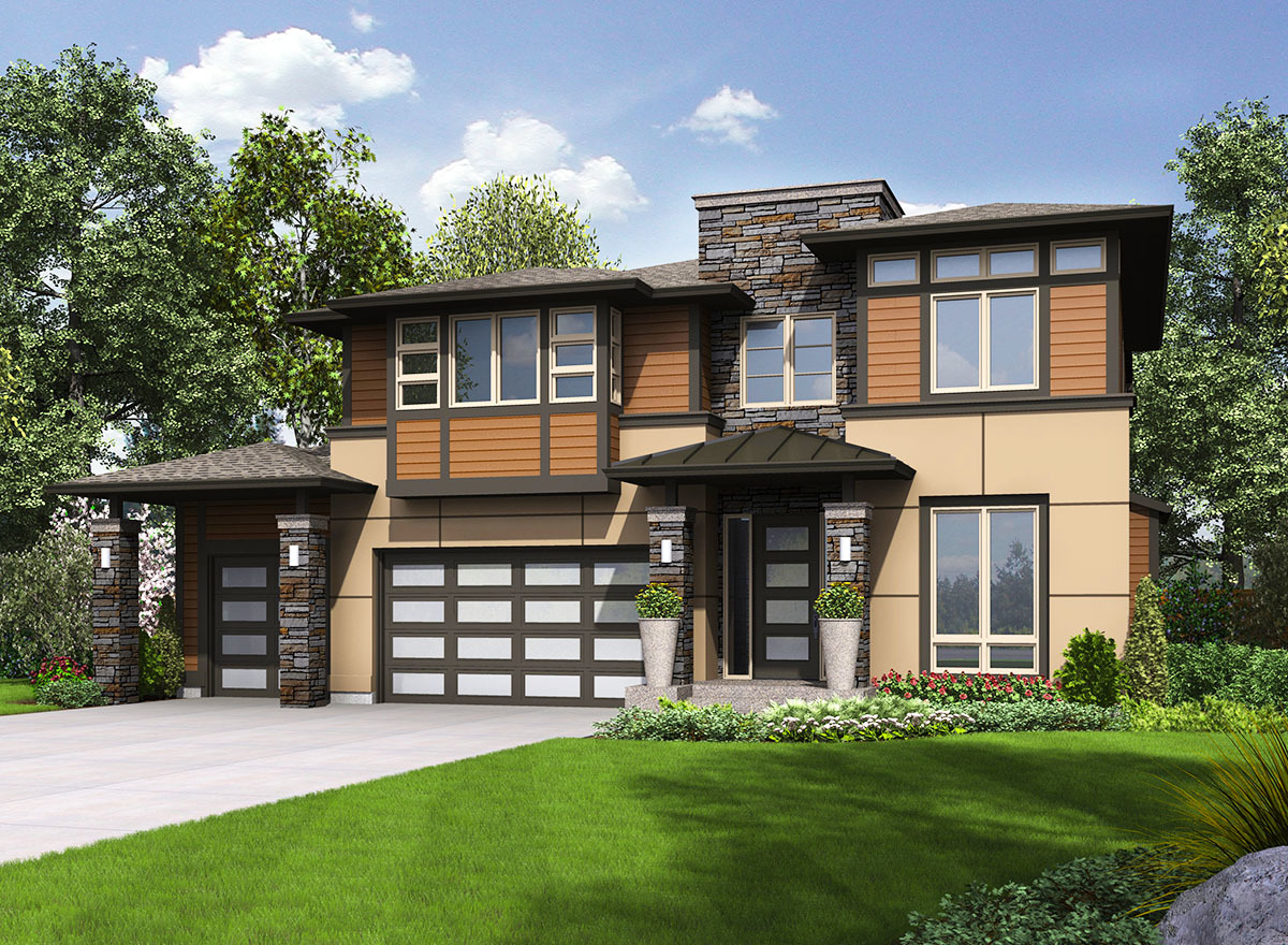 Northwest home with flex space 23540jd architectural for Northwest house designs