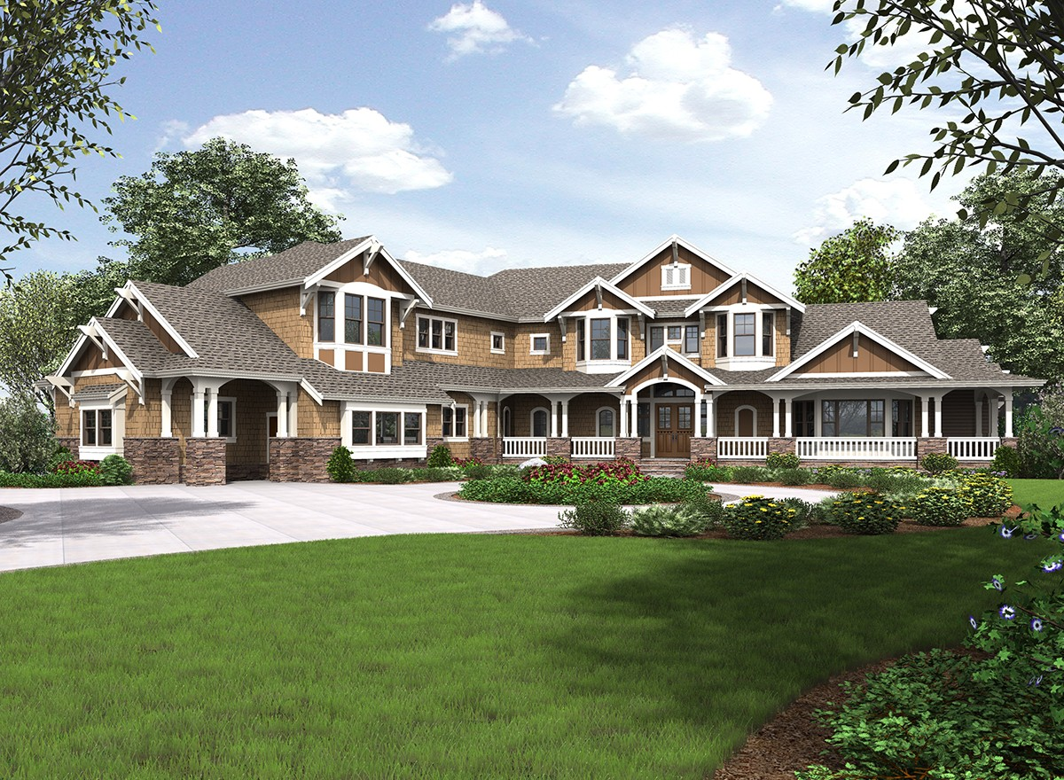 Sensational shingle style home plan 23547jd 1st floor for Luxury shingle style house plans
