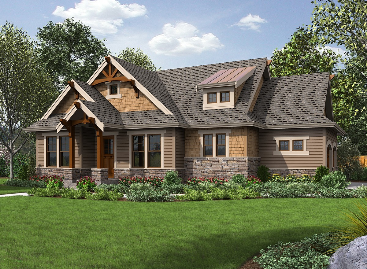 High end craftsman getaway 23570jd architectural for High end home plans