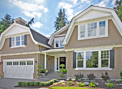 Beautiful 4 Bed Gambrel House Plan   23582JD Thumb   01