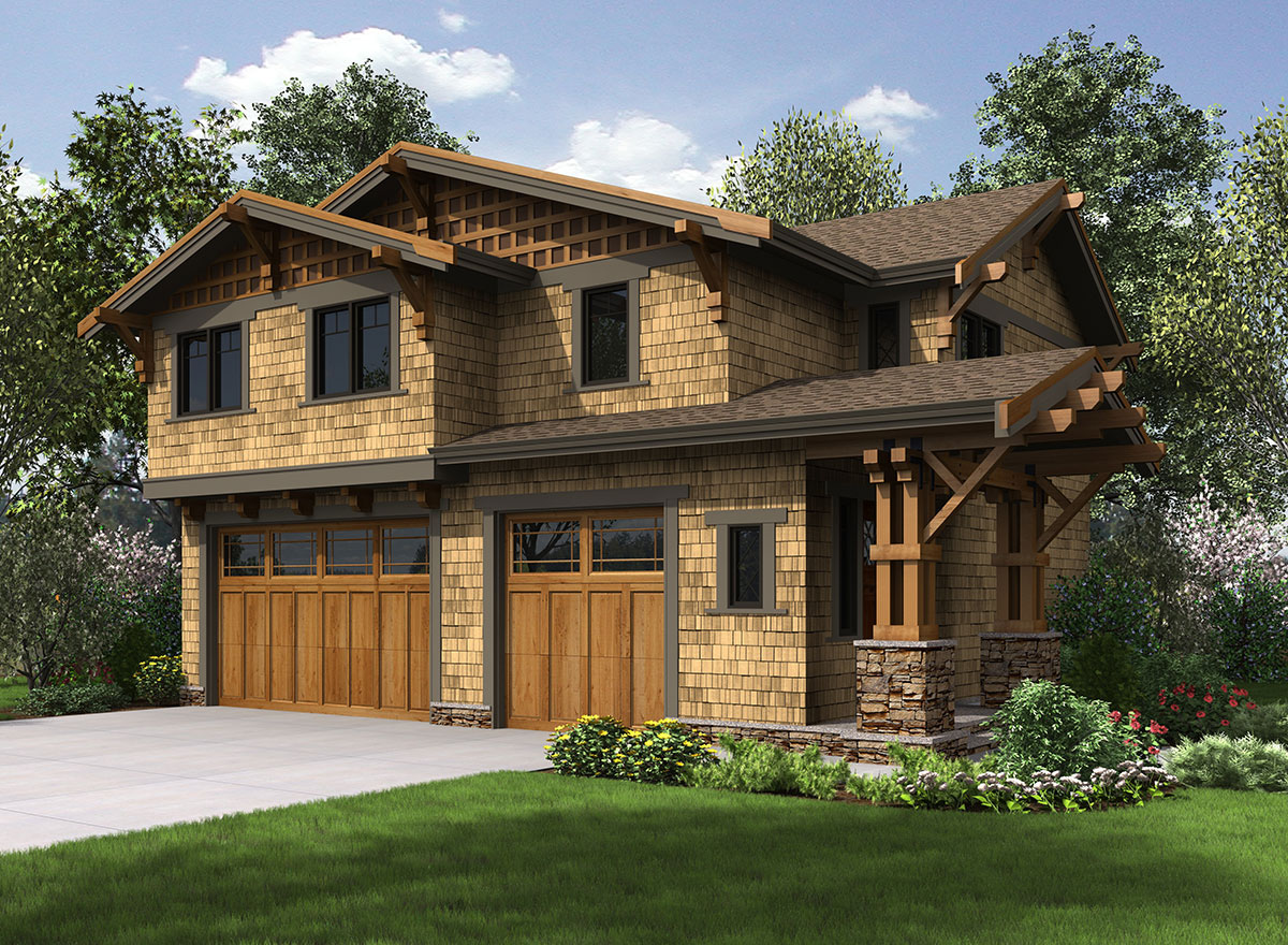 Rustic carriage house plan 23602jd architectural for House with garage apartment