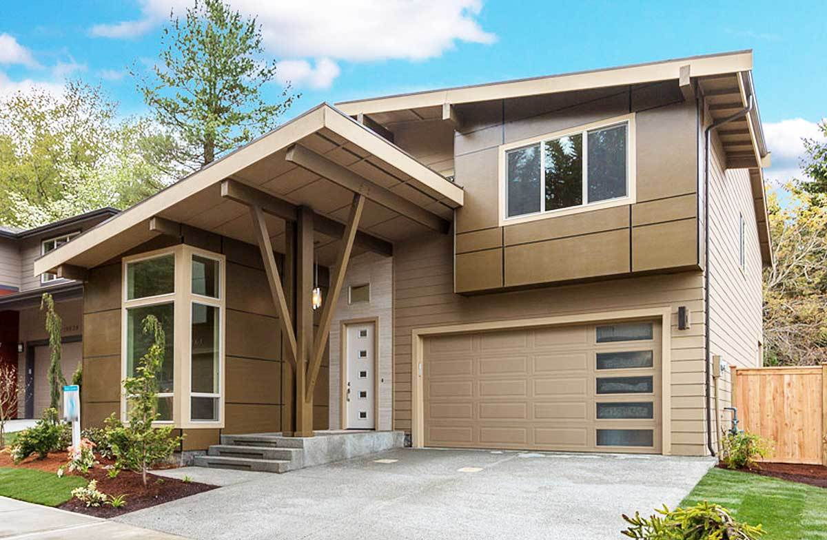 Contemporary House Plan with Vaulted Den - 23605JD | 2nd ...