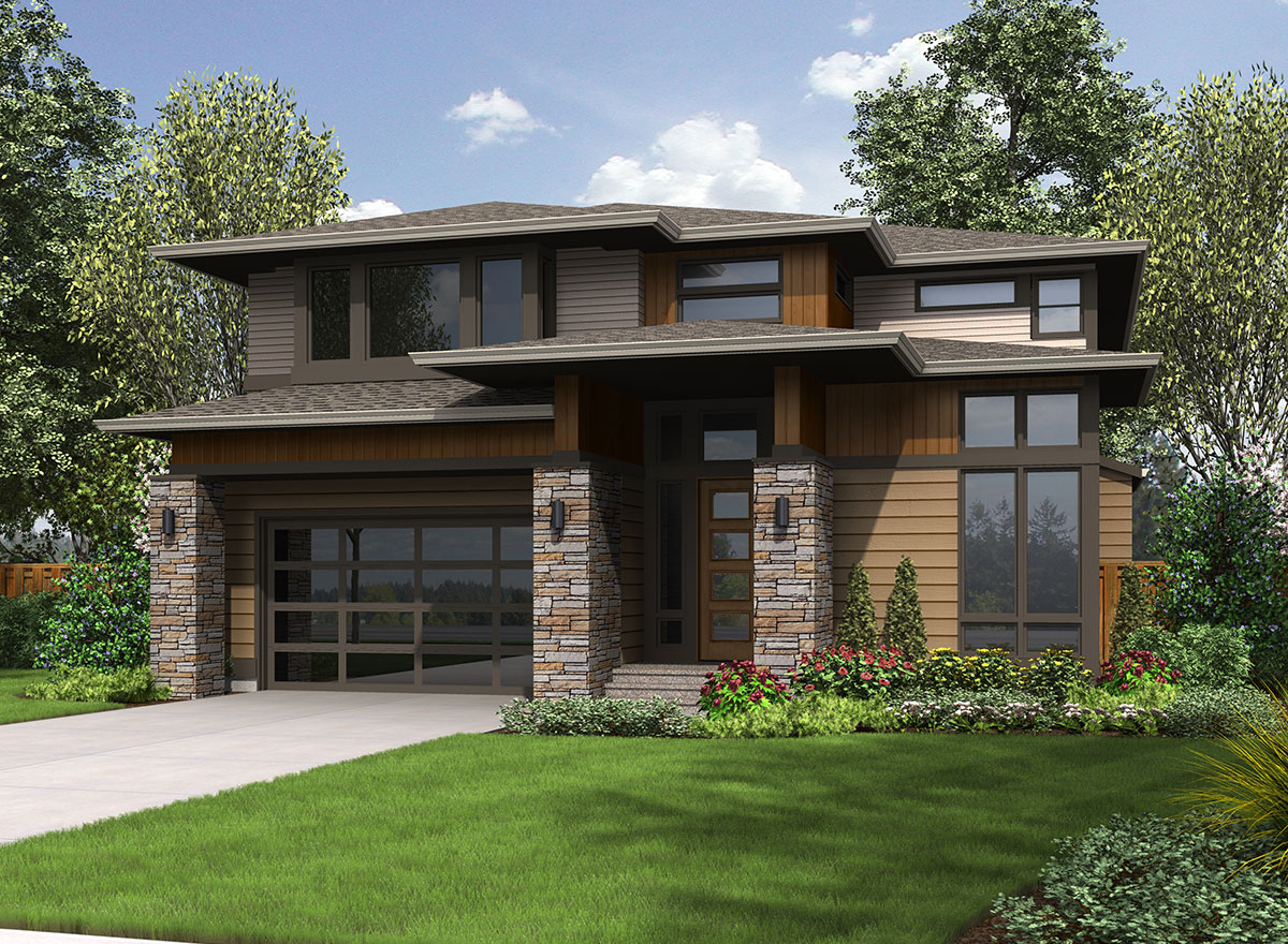 Architectural designs for Prairie style home plans