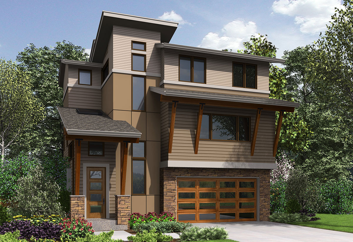 Eye Catching Northwest House Plan 23618jd