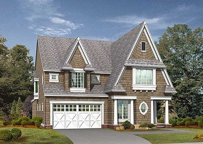 Perfect for narrow or corner lots 2372jd architectural for Perfect for corner lot house plans