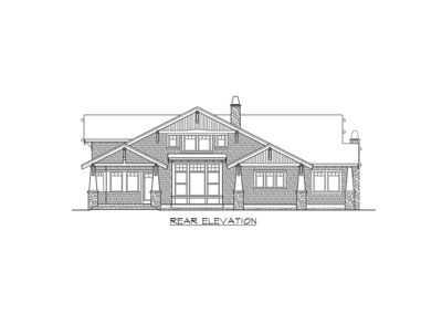 2374jd-REAR_1485957870 Rambler House Plans With Vaulted Ceiling on family room vaulted ceiling, elevations vaulted ceiling, two-story vaulted ceiling, murals for vaulted ceiling,